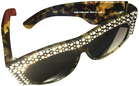 Preload https://img-static.tradesy.com/item/26022624/gucci-brown-oversized-acetate-with-crystals-sunglasses-0-1-540-540.jpg