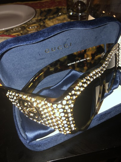 Gucci Oversized acetate with crystals Image 1