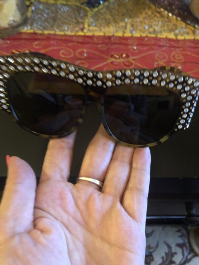 Gucci Oversized acetate with crystals Image 2