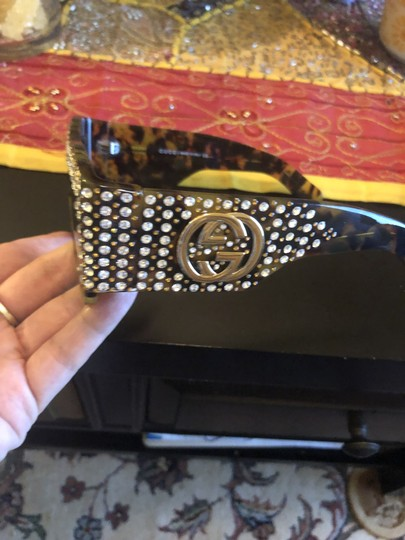 Gucci Oversized acetate with crystals Image 3
