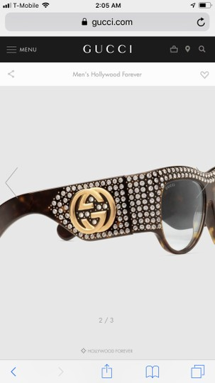 Gucci Oversized acetate with crystals Image 4
