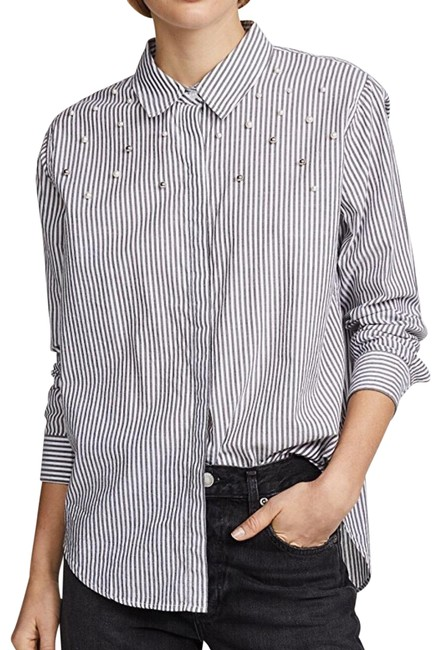Preload https://img-static.tradesy.com/item/26022645/rails-florence-stripe-pearled-taylor-shirt-button-down-top-size-2-xs-0-2-650-650.jpg