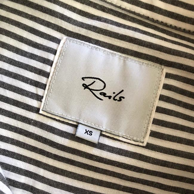 Rails Button Down Shirt Florence Stripe Pearled Image 6