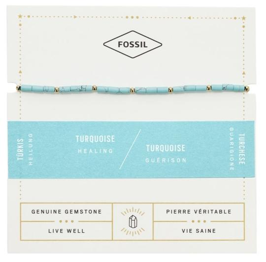 Fossil NEW Fossil Turquoise Beaded Bracelet JF03137710 Image 1