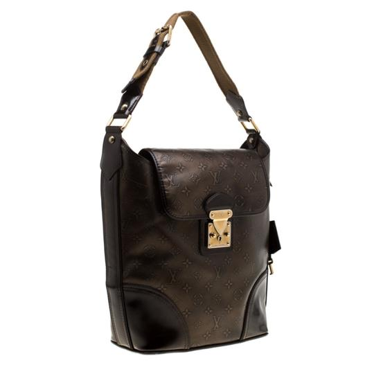 Louis Vuitton Monogram Leather Tote in Brown Image 2