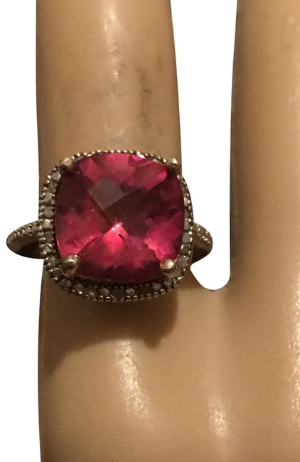 Pink Topaz/Diamonds Ring Pink Topaz/Diamonds Ring Image 1