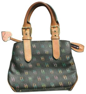 Dooney & Bourke Dooneyandbourke Purse Handbag Satchel in Black & Multicolor