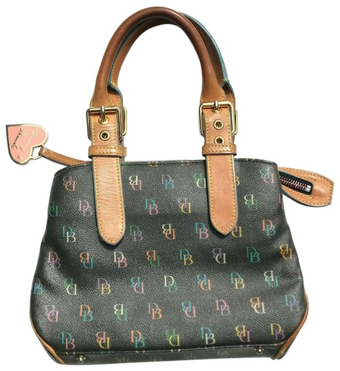 Preload https://img-static.tradesy.com/item/26022830/dooney-and-bourke-monogram-black-multicolor-leather-coated-canvas-satchel-0-1-540-540.jpg