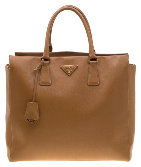 Preload https://img-static.tradesy.com/item/26022834/prada-top-handle-bag-saffiano-northsouth-brown-leather-clutch-0-1-540-540.jpg