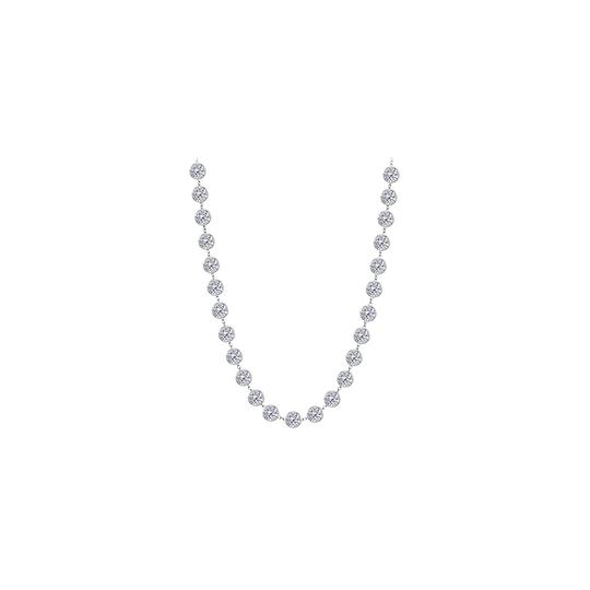 Preload https://img-static.tradesy.com/item/26022846/white-cubic-zirconia-hoop-earrings-for-women-inside-out-050cttw-necklace-0-0-540-540.jpg
