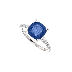 Marco B September Birthstone Created Sapphire Engagement Rings