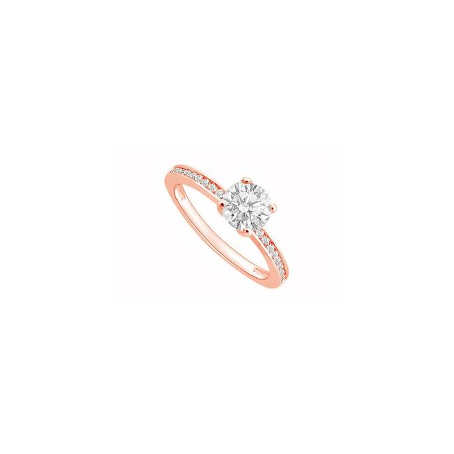 Pink April Birthstone Diamond Engagement In 14k Rose Gold 0.50 Ct Tdw Ring Pink April Birthstone Diamond Engagement In 14k Rose Gold 0.50 Ct Tdw Ring Image 1