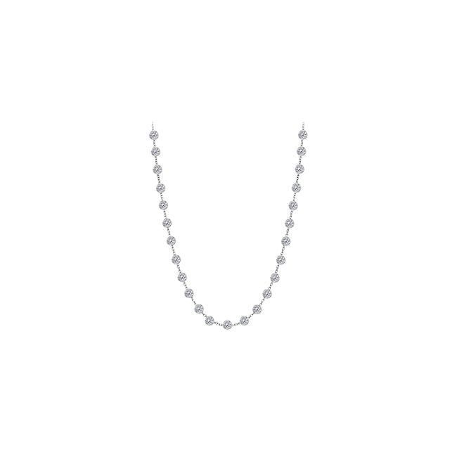 White Cubic Zirconia 925 Sterling Silver 1.25 Ct Tw Necklace White Cubic Zirconia 925 Sterling Silver 1.25 Ct Tw Necklace Image 1