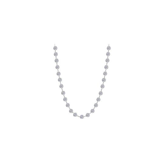 Preload https://img-static.tradesy.com/item/26022868/white-cubic-zirconia-925-sterling-silver-400-ct-tw-necklace-0-0-540-540.jpg