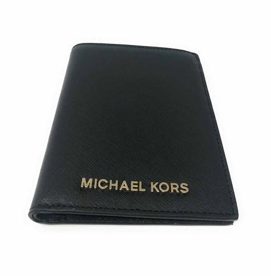 Michael Kors Michael Kors Jet Set Travel Passport Case Leather Signature Wallet Image 2