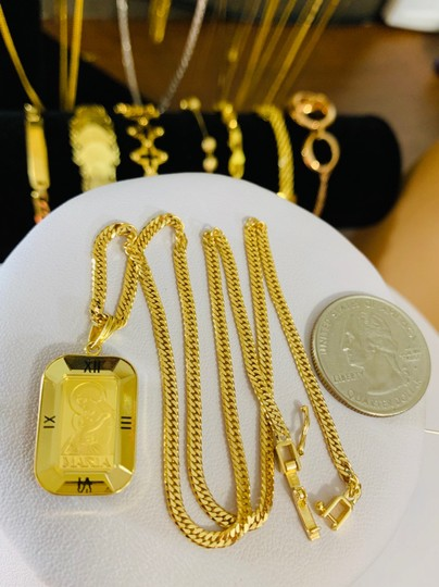 18K Japan Gold Fine Maria Necklace With 16