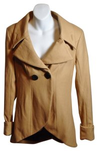 BeBe Sexy Military Peacoat Wool Blend Trendy Hi Lo Military Jacket
