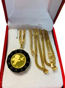 """18K Japan Gold Fine Angel/Queen Necklace With 16"""" 18K Japan Gold Fine Angel/Queen Necklace With 16"""""""