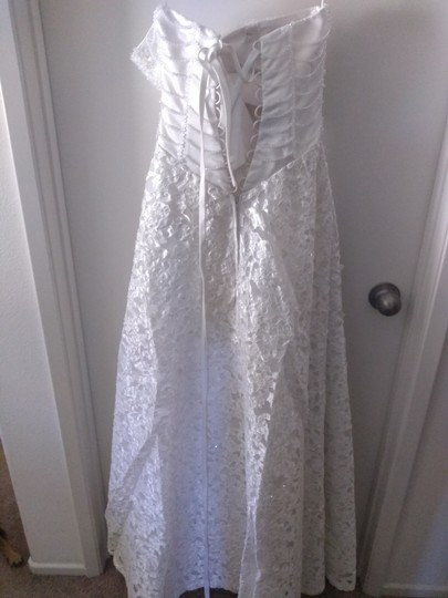 Preload https://item4.tradesy.com/images/white-lace-crystals-with-feminine-wedding-dress-size-petite-4-s-26022893-0-0.jpg?width=440&height=440