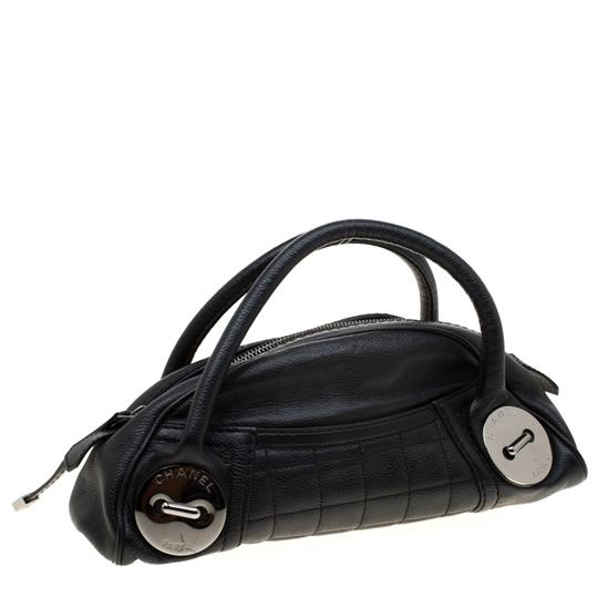 Chanel Leather Satchel in Black Image 2