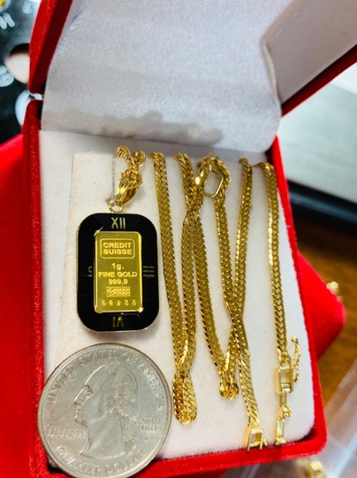 18K Japan Gold Fine Liberty Necklace With 16