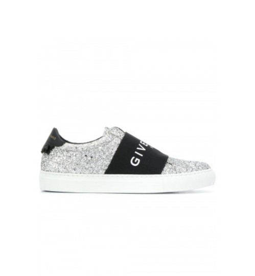 Preload https://img-static.tradesy.com/item/26022921/givenchy-silver-black-gr-new-urban-street-glitter-paris-elastic-strap-sneakers-size-eu-38-approx-us-0-0-540-540.jpg