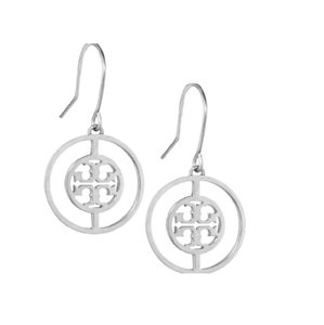 Tory Burch Tory Burch Silver Deco Logo Earrings