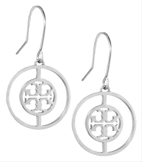 Tory Burch Tory Burch Silver Deco Logo Earrings Image 1