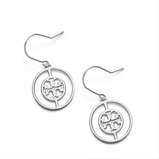 Tory Burch Tory Burch Silver Deco Logo Earrings Image 2