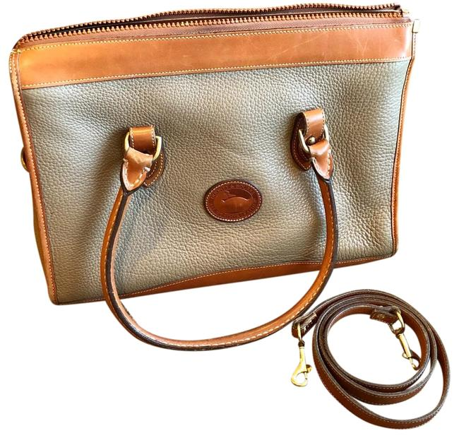 Dooney & Bourke Classic Pebble Tan/Taupe Leather Satchel Dooney & Bourke Classic Pebble Tan/Taupe Leather Satchel Image 1