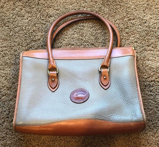 Dooney & Bourke Leather Satchel in Tan/Taupe Image 1