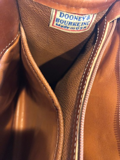 Dooney & Bourke Leather Satchel in Tan/Taupe Image 10