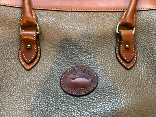 Dooney & Bourke Leather Satchel in Tan/Taupe Image 2