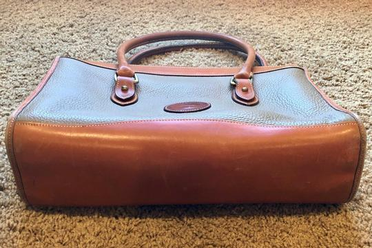 Dooney & Bourke Leather Satchel in Tan/Taupe Image 3