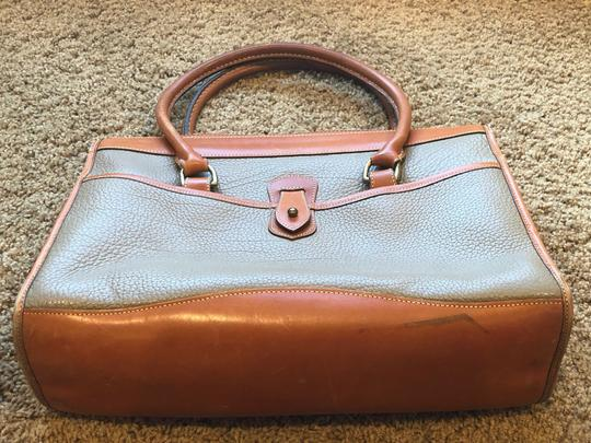 Dooney & Bourke Leather Satchel in Tan/Taupe Image 4