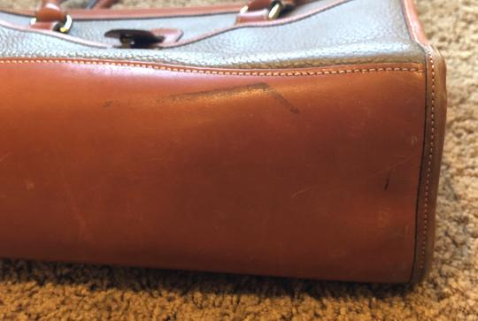 Dooney & Bourke Leather Satchel in Tan/Taupe Image 5