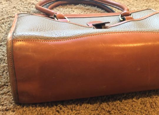 Dooney & Bourke Leather Satchel in Tan/Taupe Image 6