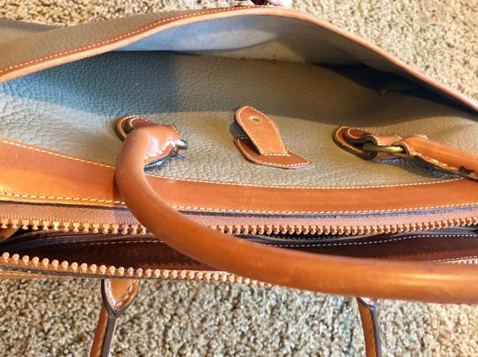 Dooney & Bourke Leather Satchel in Tan/Taupe Image 9