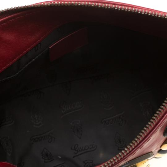 Gucci Leather Studded Red Clutch Image 4