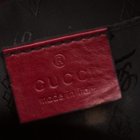 Gucci Leather Studded Red Clutch Image 7
