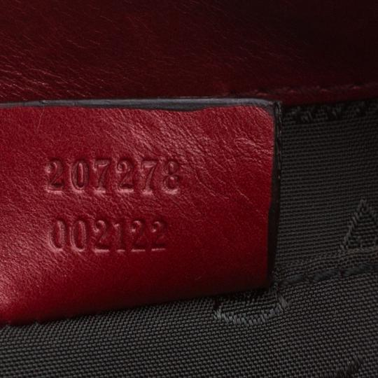 Gucci Leather Studded Red Clutch Image 8