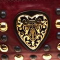 Gucci Leather Studded Red Clutch Image 9