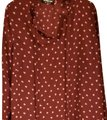 ASOS Top Cranberry with Pink Hearts Image 0