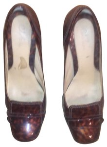 Cole Haan Brown and tan speckled Pumps