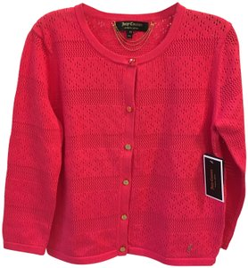 Juicy Couture Cotton Gold Buttons Embellished Sweater