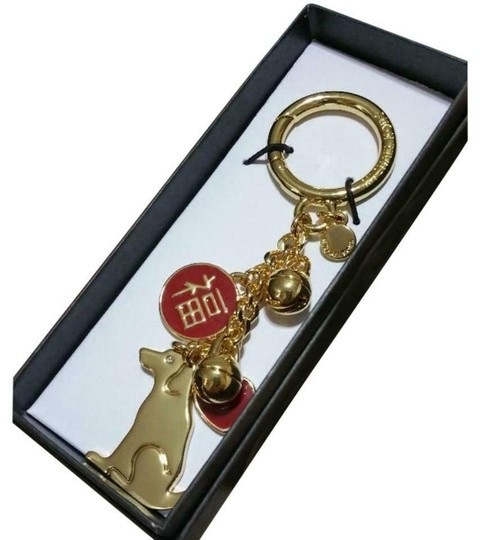 Michael Kors Gold Year Of Dog Key Chain Charm Key Fob Image 1