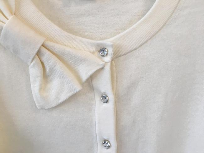 Kate Spade White Bow with Jewel Buttons Cardigan Size 0 (XS) Kate Spade White Bow with Jewel Buttons Cardigan Size 0 (XS) Image 1