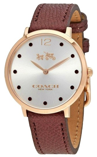 Preload https://img-static.tradesy.com/item/26023107/coach-rose-gold-14502694-womens-slim-easton-burgundy-chalk-quartz-watch-0-1-540-540.jpg