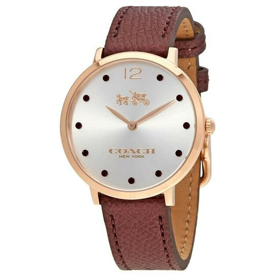 Coach Coach 14502694 Womens Slim Easton Burgundy Chalk Quartz Watch Image 2