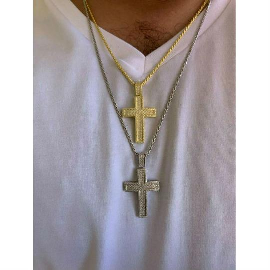 Harlembling Harlembling 925 Silver Cross Pendant Bust Down Crucifix Necklace Image 1